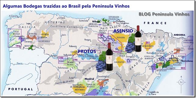 Mapa Protos e Asensio
