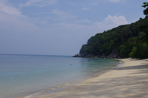 The private beach on Bubble's remote section of Perhentian Besar.