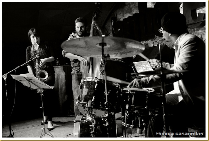 Melissa Aldana, Dee Jay Foster i Francisco Mela (Barcelona 2012)