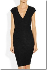 James Perse Ruched Wrap Effect Jersey Dress