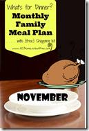 Meal Planner - November