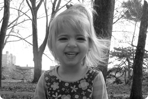 Elaine 3 Year Portraits Head Shot B&W