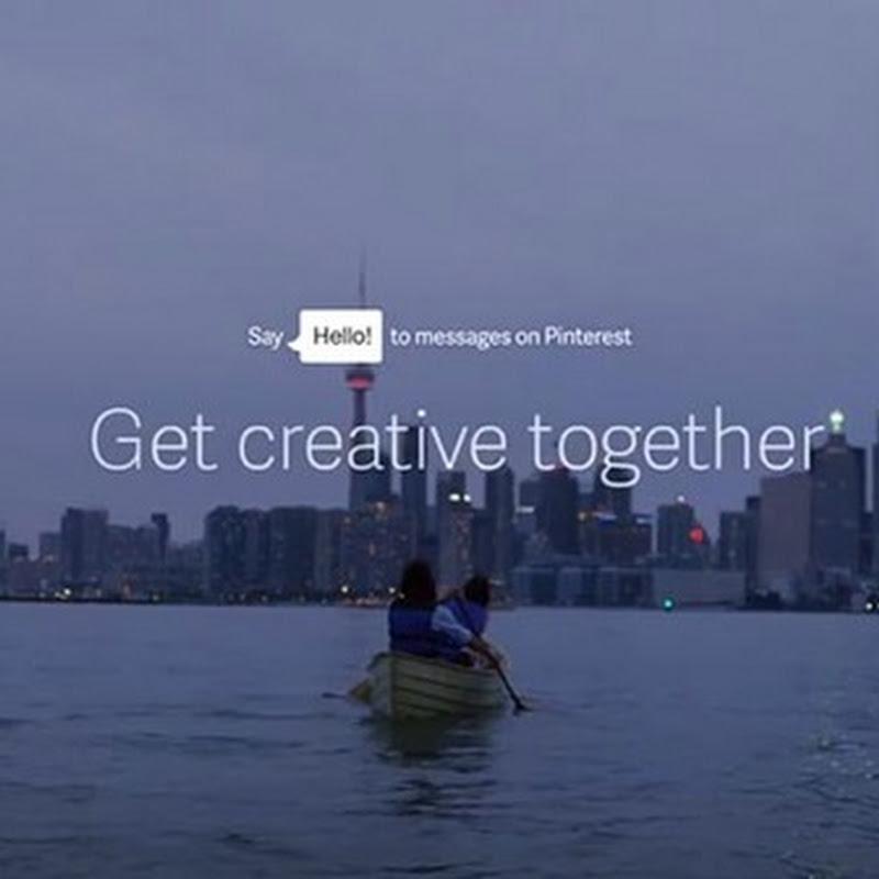 Pinterest le dice HOLA a los mensajes