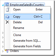 Copying the EmployeeSalesByCountry controller.