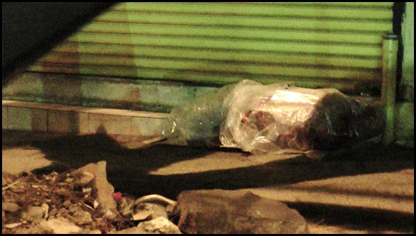 Poor Afrikaners Pretoria Streets Sleeping in Plastic Bag