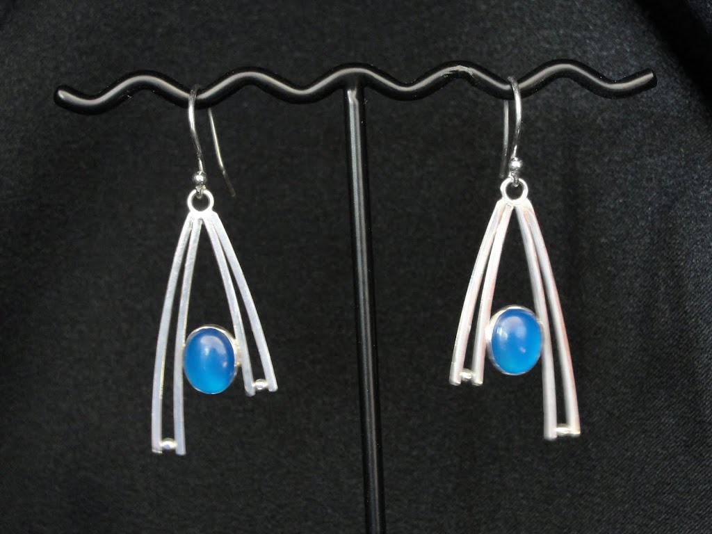 Blue Agate Modified Wishbones....Sold