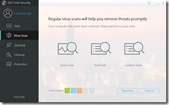 يمكن أختيار نوع الفحص من الفيروسات الذى تريد القيام به لجهازك