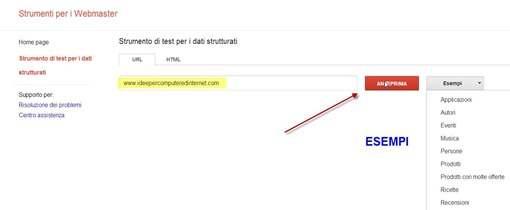 google-test-dati-strutturati