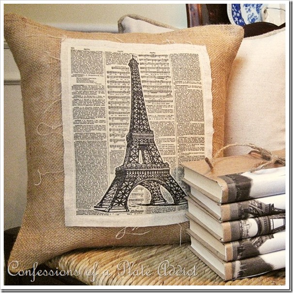 CONFESSIONS OF A PLATE ADDICT Vintage Eiffel Tower Pillow_thumb[48]