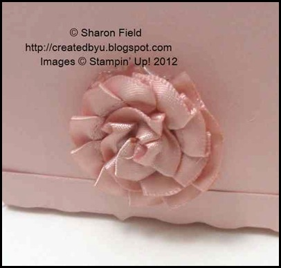 pleated satin ribbon rose or flower tail for piggy box