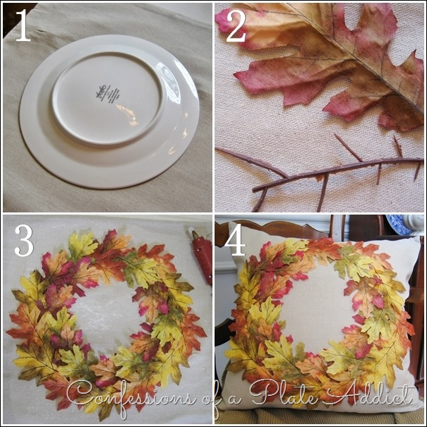 CONFESSIONS OF A PLATE ADDICT Pottery Barn Inspired Fall Wreath Pillow tutorial
