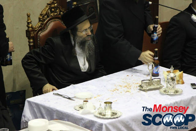 Yartzheit Tish For Stamar Rebbe Held In Satmar Beis Medrash Of Monsey (Photos by Moshe Lichtenstein) - IMG_5528.JPG