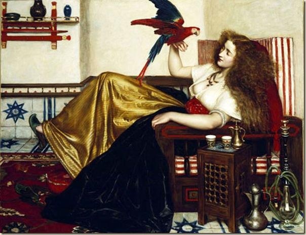 Valentine Cameron Princep, femme avec perroquet