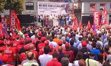 Mani contra encausados sindicales