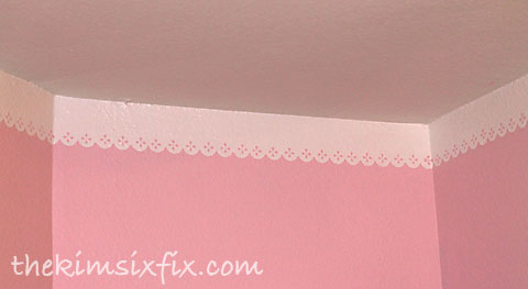 Painted eyelet border