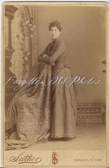 Cabinet Card lady and a weird chair Brainerd Antiques
