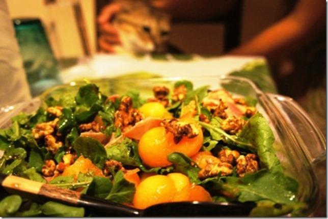rocket, feta, ham salad
