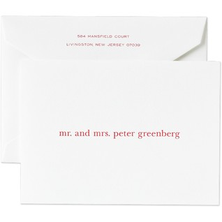 For the newly weds, it is exciting to get personalized stationery.