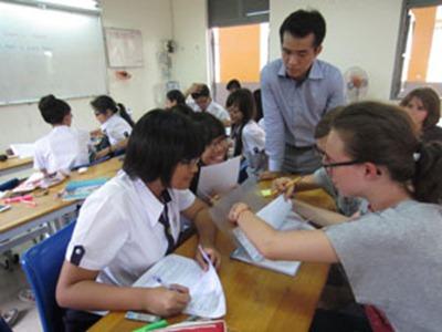 Học sinh TP.HCM giao lưu với học sinh Pháp