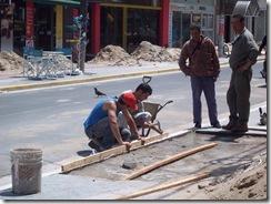 Trabajos en la peatonal de San Clemente del Tuyú