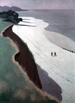Felix Valotton, La falaise et la grève blanche c. 1913