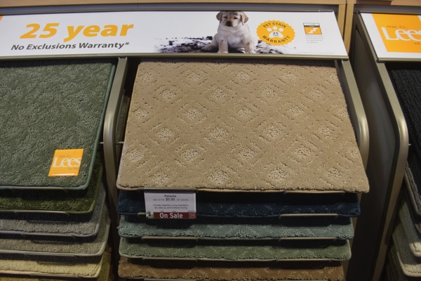 Lee's carpet with 25 year warranty