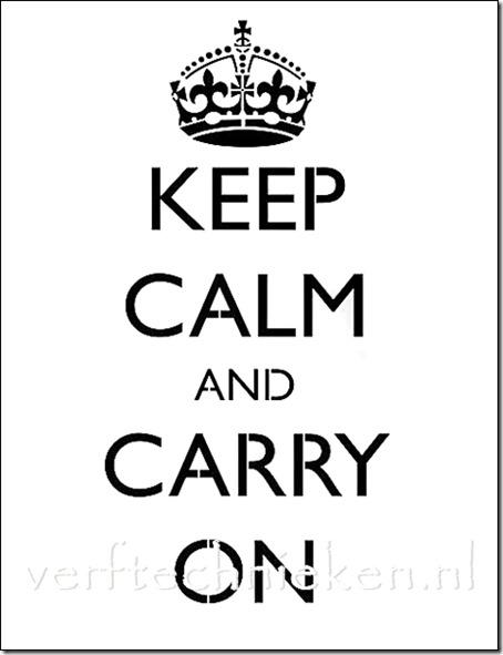 Shabby Chic sjabloon Keep Calm