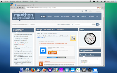 Maxthon Cloud Browser in PearOS