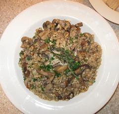 MushroomWalnutBarleyPilaf