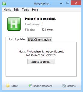 HostsMan Portable for Windows 8