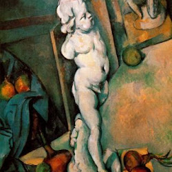 Paul Cezanne (1895): Still Life with Putto. Courtauld Instituto de Arte. Londres. Postimpresionismo
