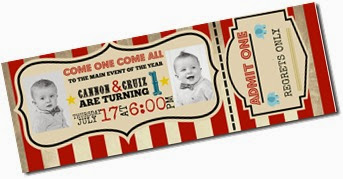 Circus Themed Invites