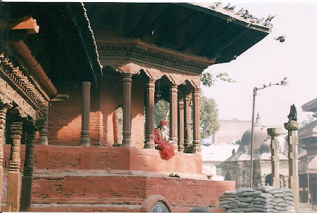 Sights of Nepal: a sadhu in Durbar Square