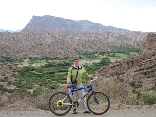 """Mountain biking - the final part of the """"triathlon"""" tour."""