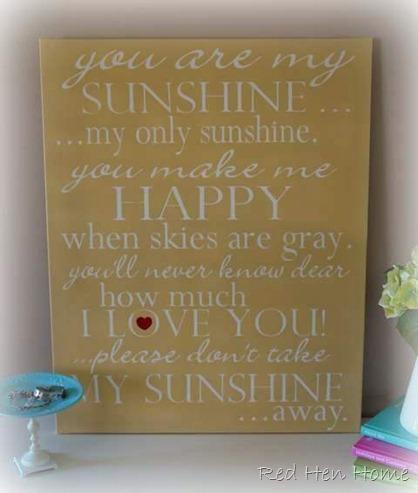you are my sunshine art