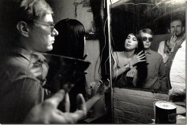 Dennis Hopper. Courtesy Tony Shafrazi Gallery. Filming at  The Factory . 1964.