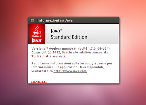 Oracle Java 7 Update 6 su Ubuntu