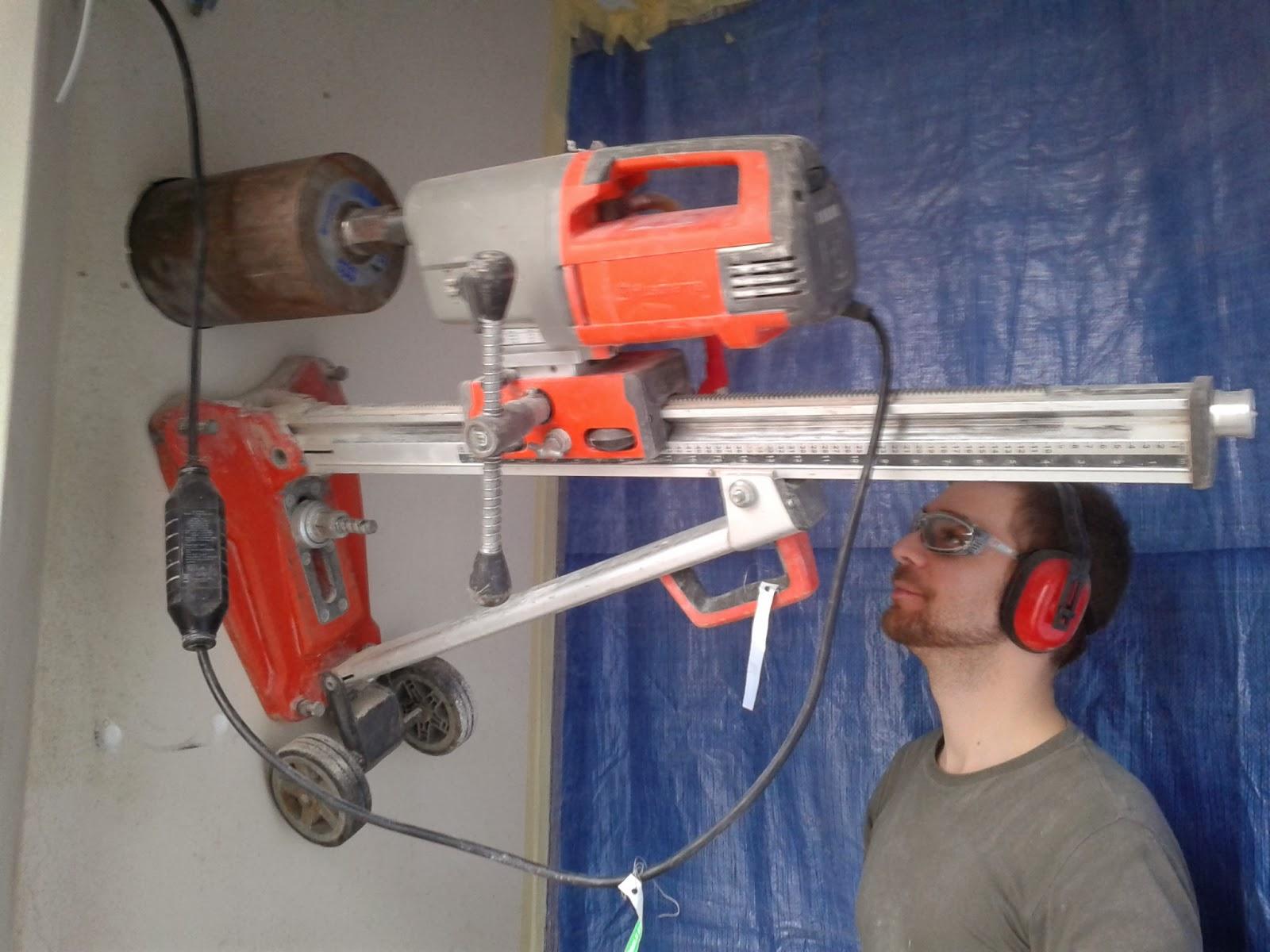 core drill wall. wall mounted core drill e