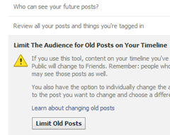 limit old posts facebook