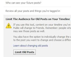 limit old posts facebook