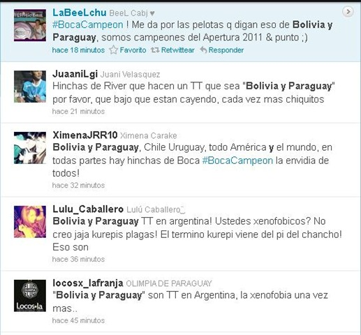 bolivia y paraguay twitter