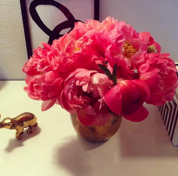 Coral Peonies via La Dolce Vita | Paloma Contreras Instagram