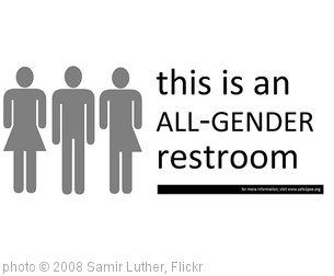 'All-Gender Restroom Sign' photo (c) 2008, Samir Luther - license: http://creativecommons.org/licenses/by-sa/2.0/