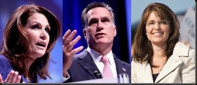 Bachman, Romney, Palin