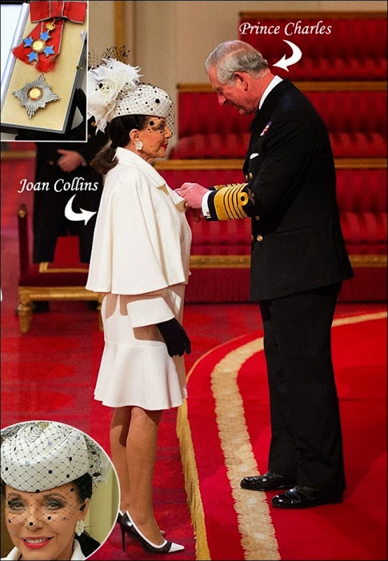 Joan-Collins-Receives-Damehood-at-Buckingham-Palace