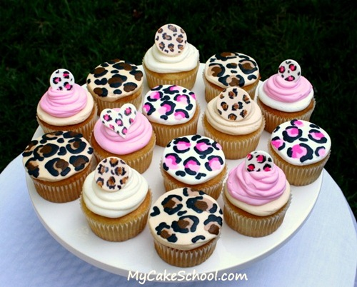 Ucreate Parties: How to Make Leopard Cupcakes
