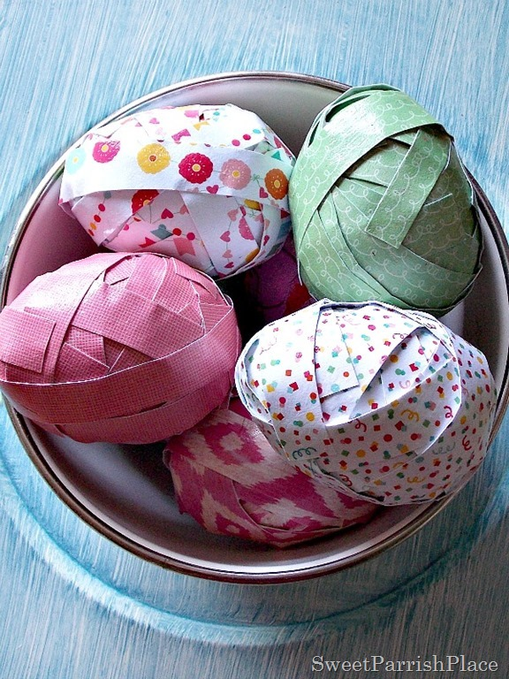 Craft Paper Easter Eggs3