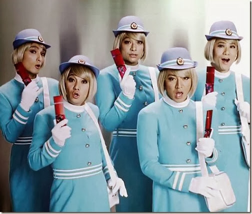 SMAP in flight-attendant-drag