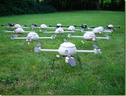 fleet of mini drones