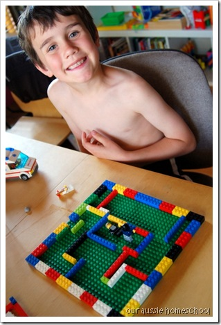The Monster in the Maze ~ Our Aussie Homeschool